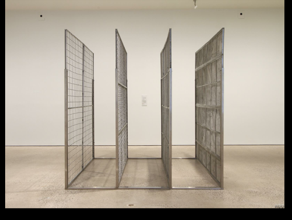 Michael Snow, Blind, 1968, steel, aluminum.