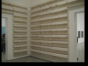 Rachel Whiteread, Untitled (paperbacks), 1997.