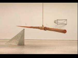 Michael Snow, Transformer, 1982, wood, varnish, rope, cardboard.
